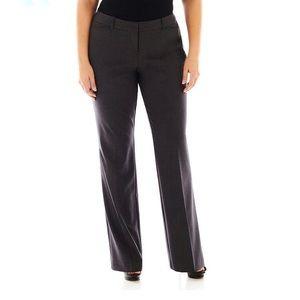 Worthington Grey Modern Fit Trousers Slacks Pants